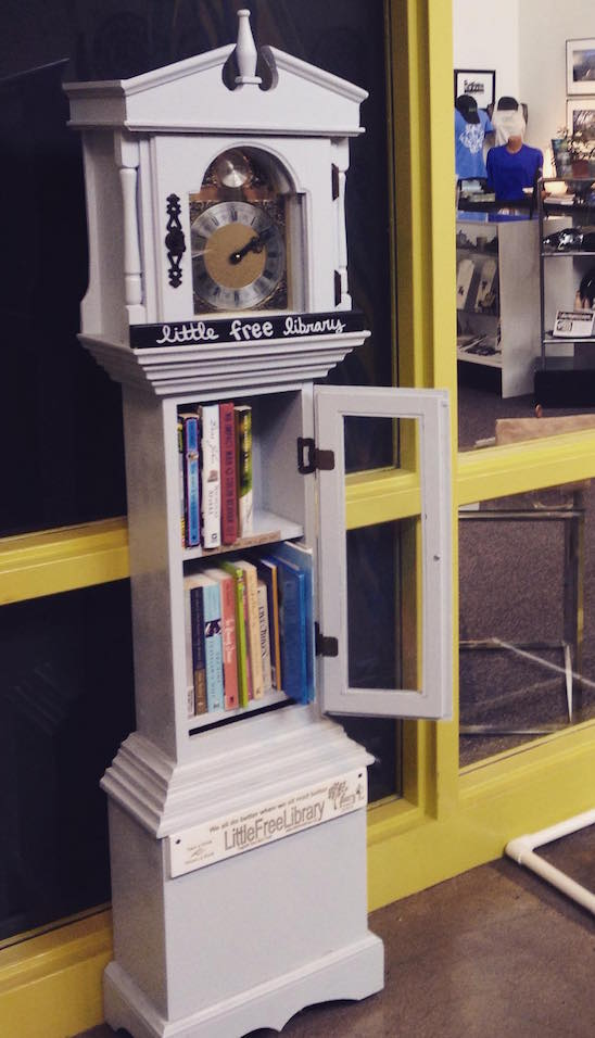 Grandfather Clock Little Free Library
