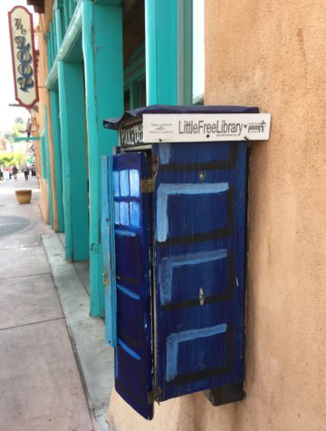 Tardis Little Free Library in Manitou Springs, CO