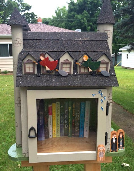 Harry Potter Little Free Library in Stoughton, Wisconsin #41984