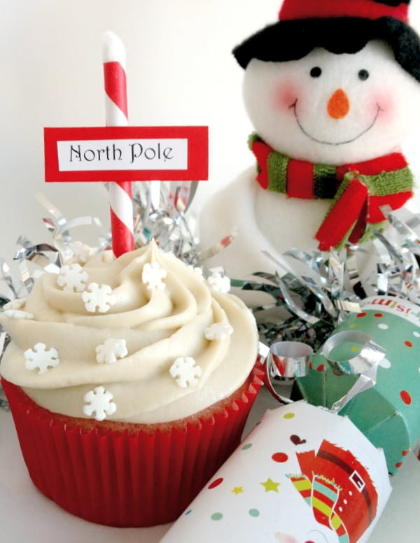Festive & Healthy North Pole Cupcakes
