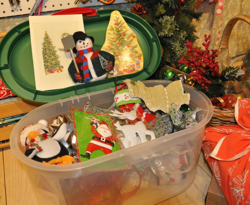 Container for cards, old ornaments, and anything else to embellish your gifts