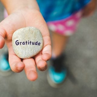 Encouraging an attitude of gratitude in children