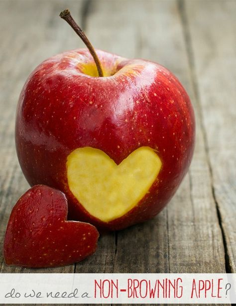 What are the health implications of the new genetically modified non-browning apple?
