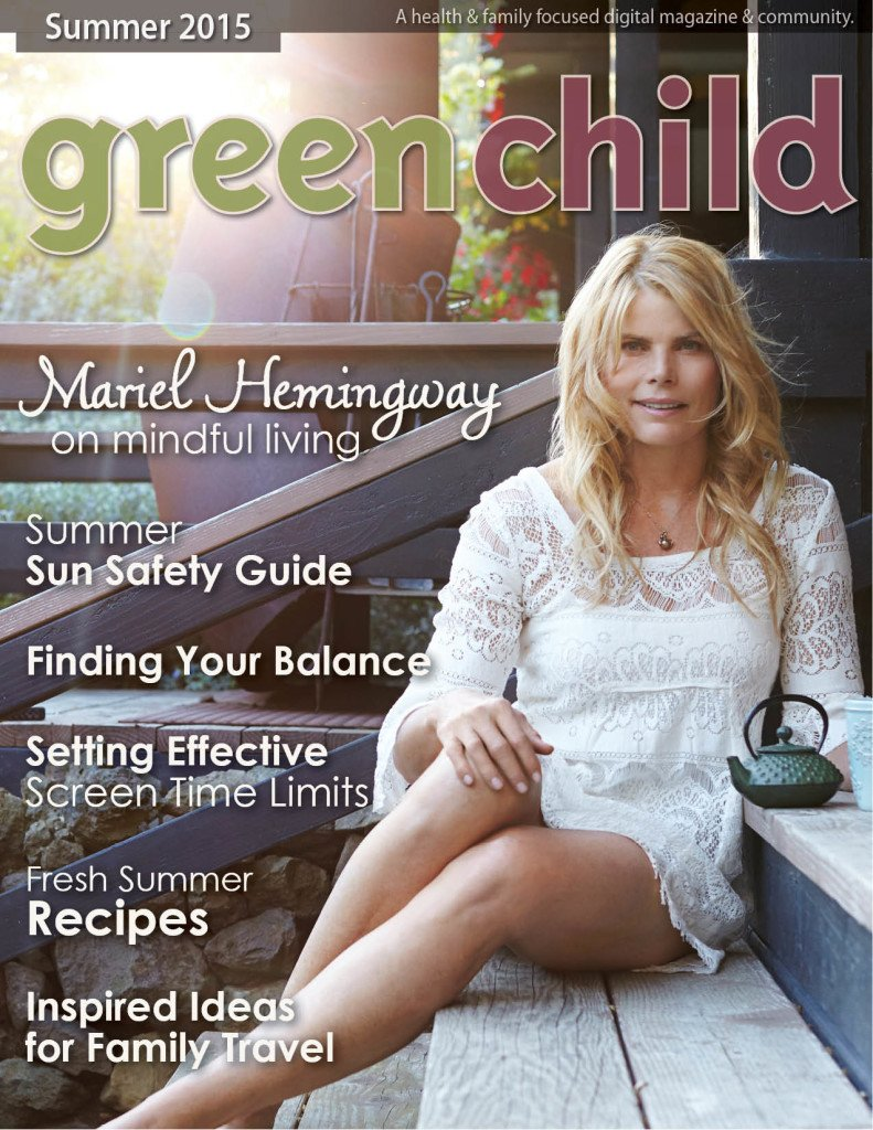 Mariel Hemingway on cover of the Summer Issue of Green Child Magazine