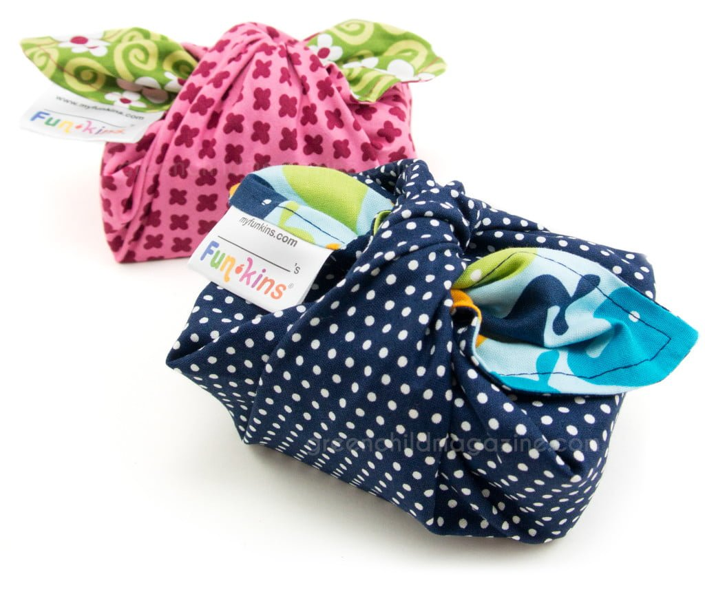 Funkins Napkins make purposeful gift wrapping