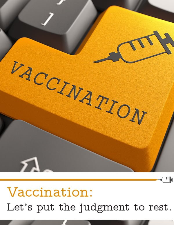 The Vaccination Debate: Let's put the judgment to rest.