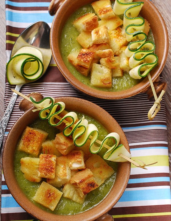 Slow Cooker Creamy Zucchini Soup: A new and delicious way to use up a mountain of zucchini!