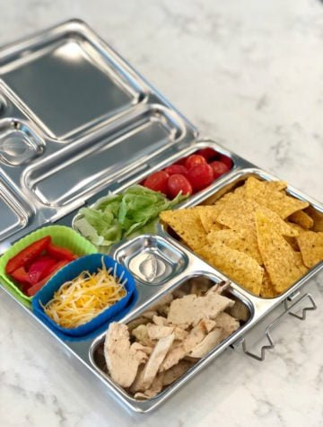 Healthy school lunch ideas - chicken nachos