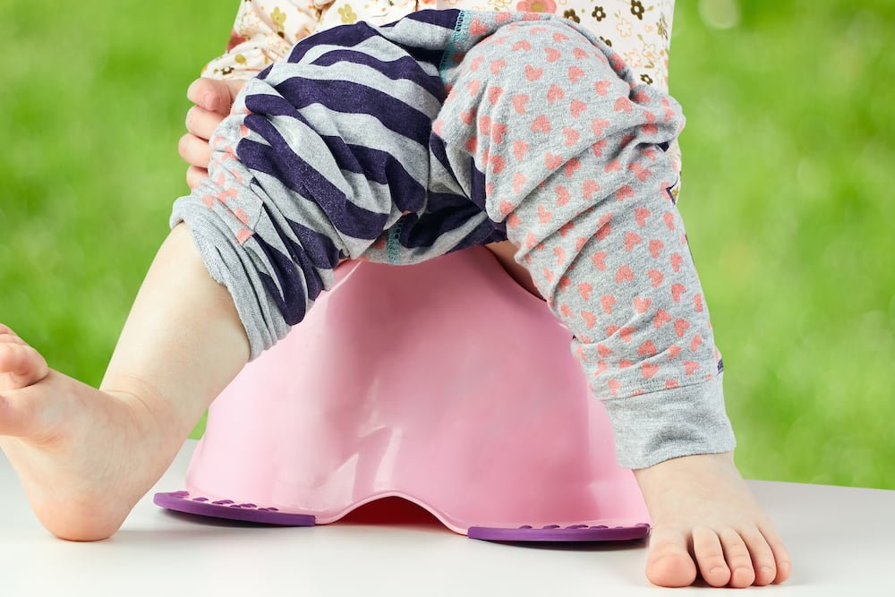 Potty training at your child's page