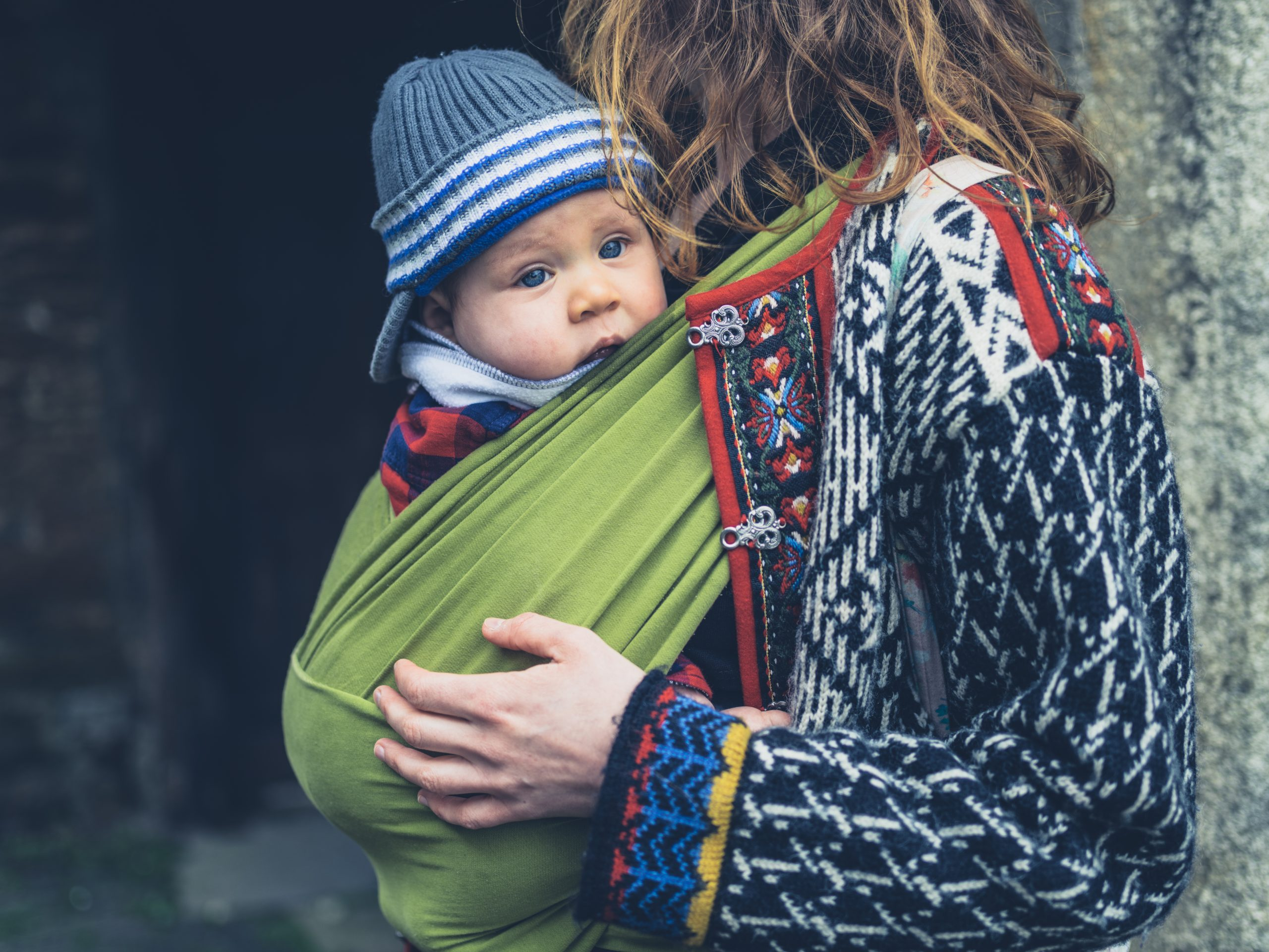 Babywearing cold weather tips for winter