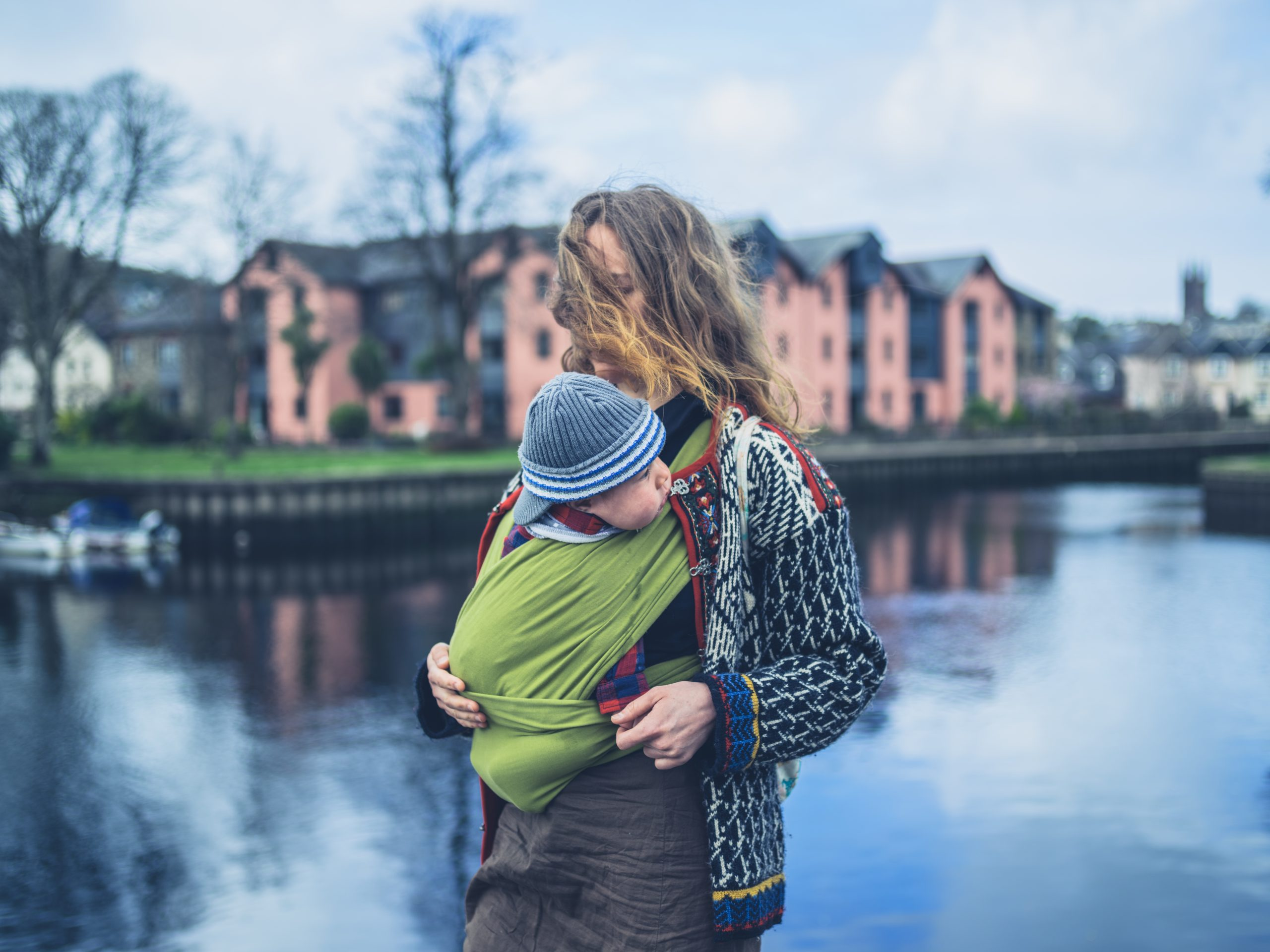 Cold weather babywearing