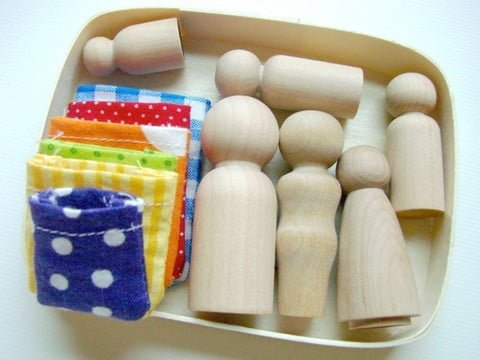 Wooden Toy Family Box