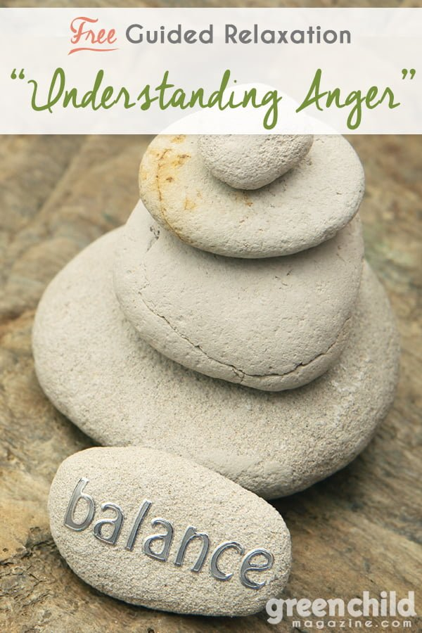 Guided relaxation pausing to understand anger