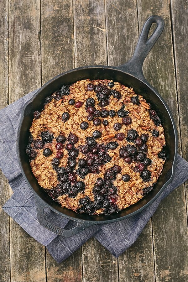 Blueberry Pear Oatmeal Bake