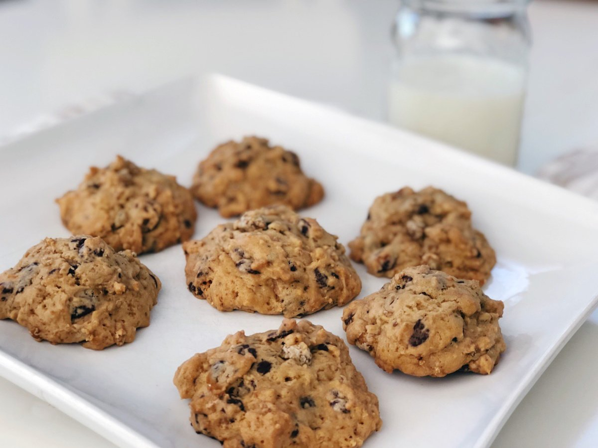 Chocolate Chip Chickpea Cookies with Einkorn Flour