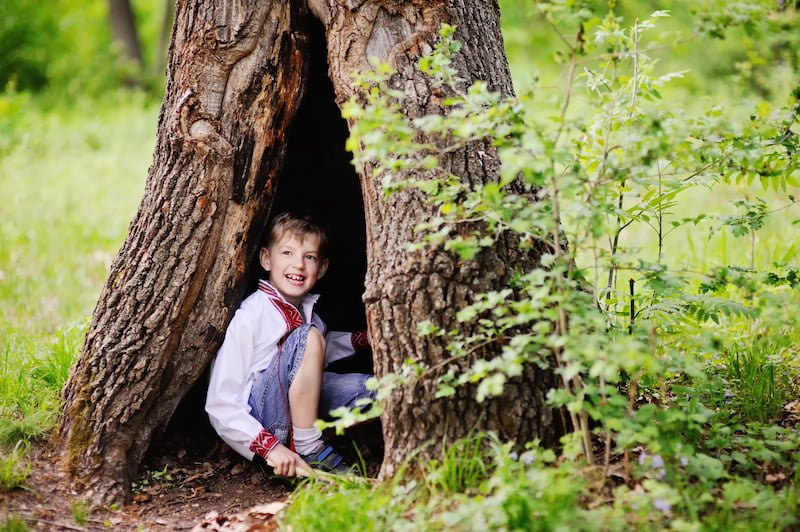 It's also important to offer children appropriate risks that they can manage. For example, kids build their balancing skills by walking on logs. But when a log is too large, heavy and unstable, it can exceed a very young child's ability to manage their own risk.