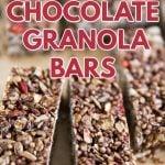 Nut free chocolate granola bars recipe