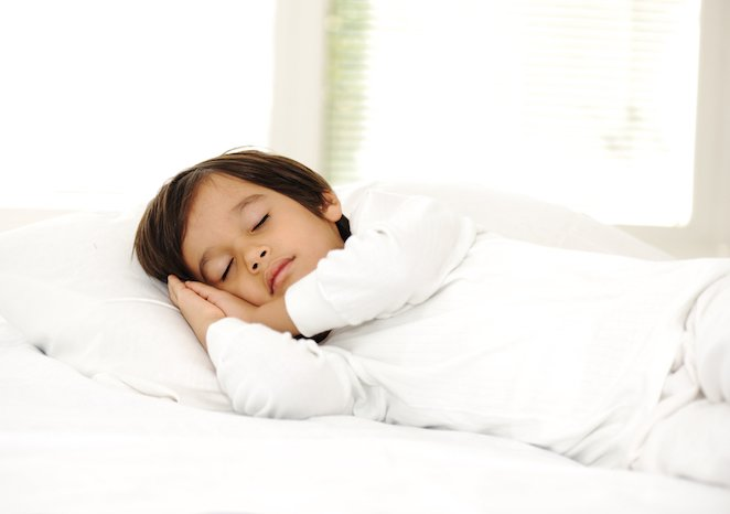 Child with ADHD sleeping