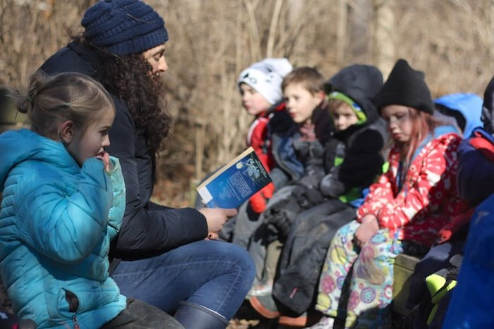 Meridian Hills Co-op in Indianapolis brings the kindergarten classroom outdoors.