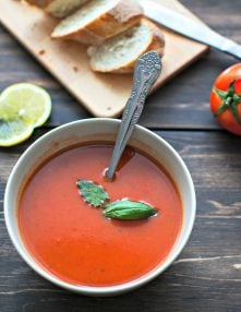 Nurturing Roasted Tomato Soup and Rustic Garlic Bread