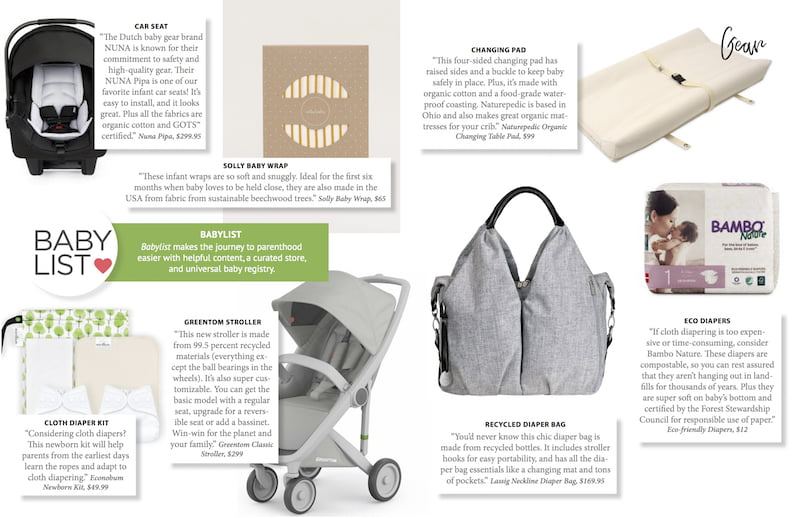 Our top picks for eco-friendly baby gear