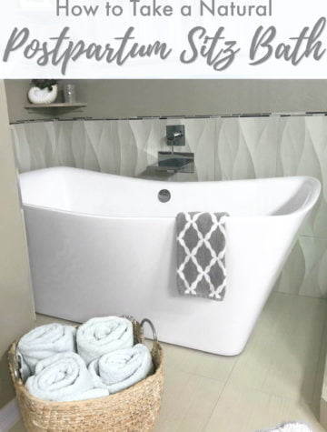 DIY sitz bath for postpartum recovery
