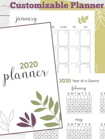 The Ultimate Customizable Free Printable Planner