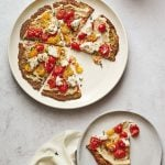 White Bean and Smashed Rosemary Roasted Cherry Tomato Cauliflower Crust Pizza