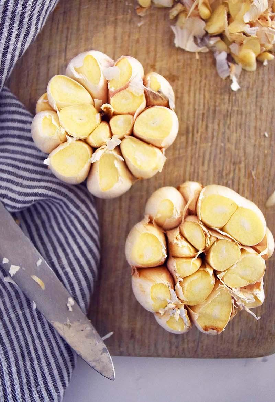 Roasted Garlic Bone Broth Soup recipe