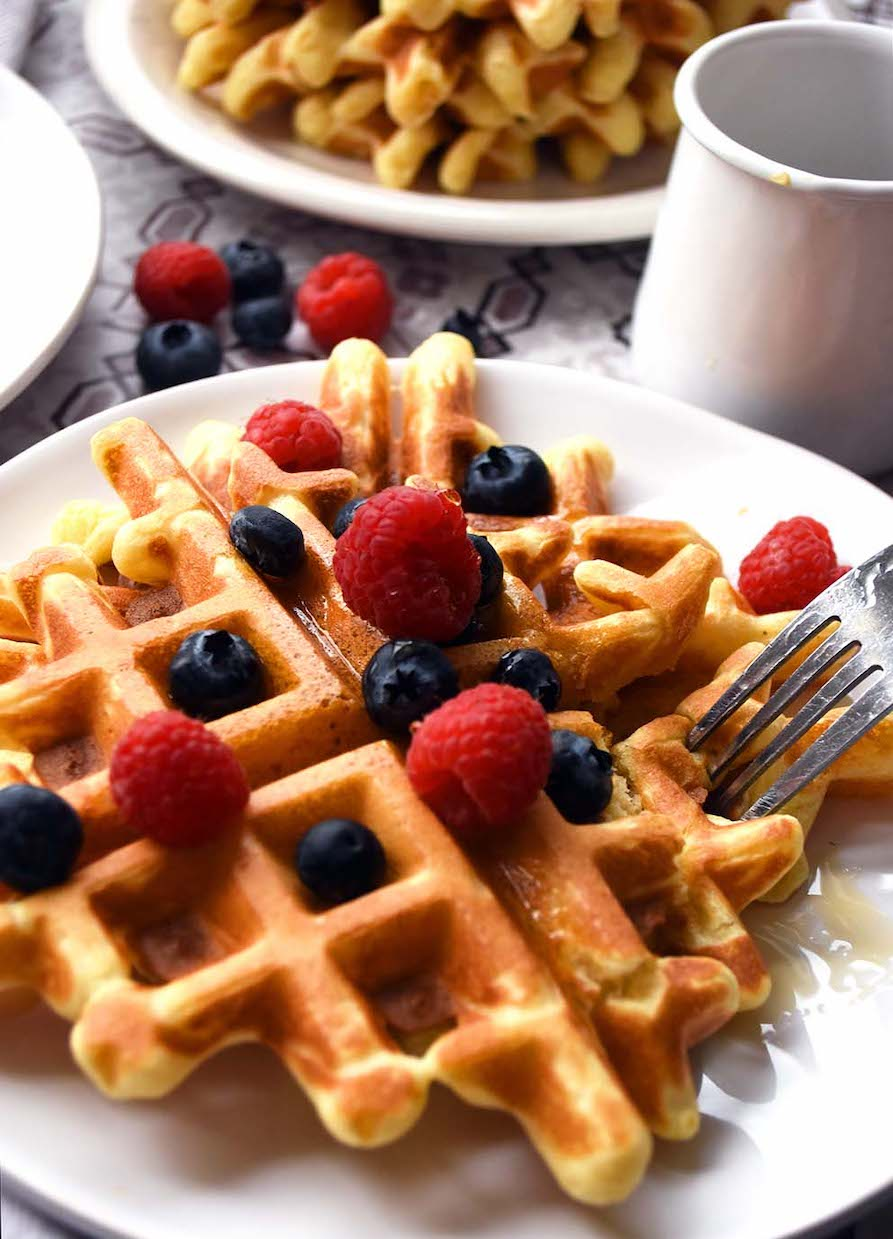 With thesecrispy einkorn flour waffles, you can avoid conventional wheat without feeling like you're missing out on a breakfast favorite.