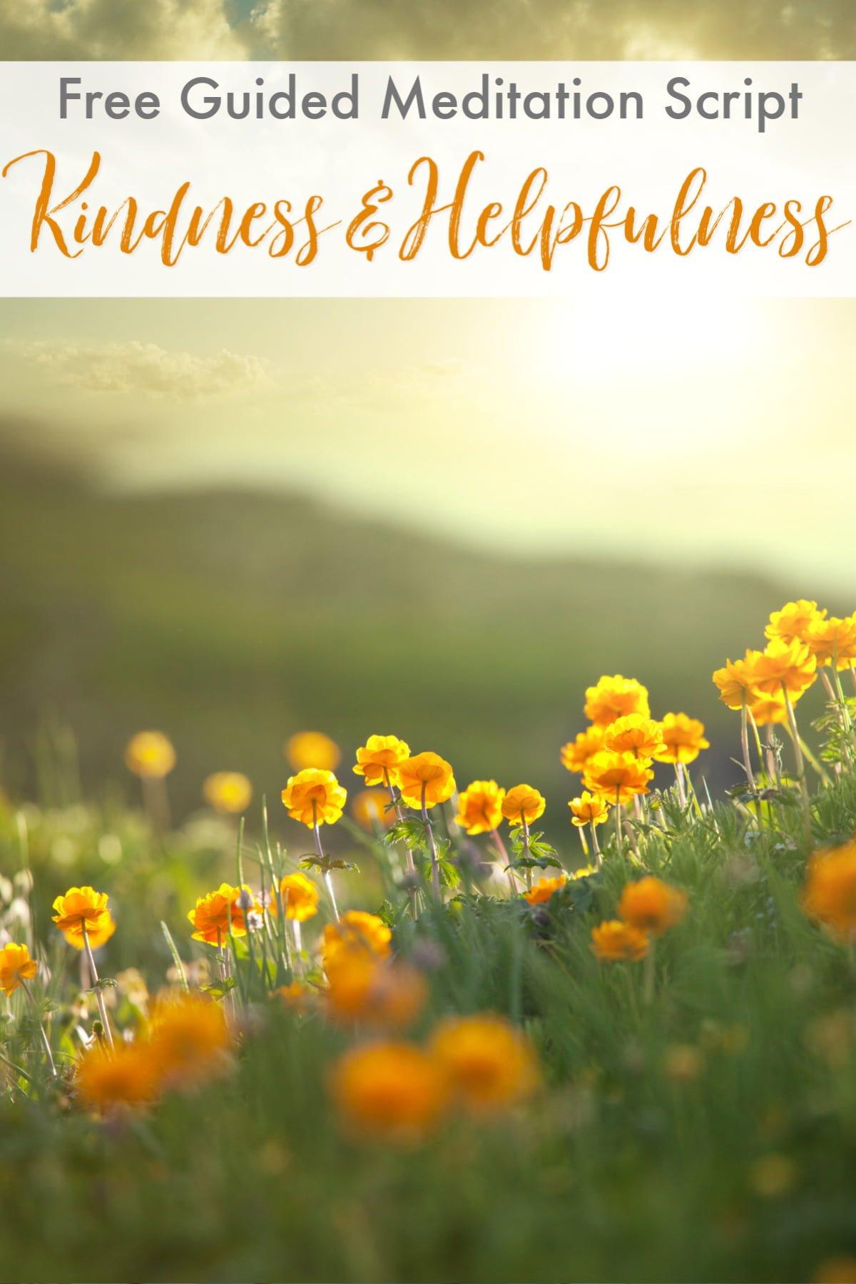 Guided Meditation Script: Morning Meditation on Kindness ...