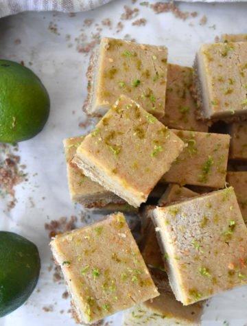Gluten-Free Cashew Lime Bars Recipe