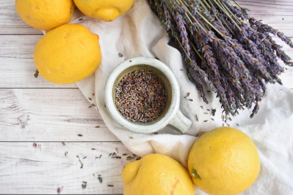 Steep lavender in boiling water for lavender lemonade