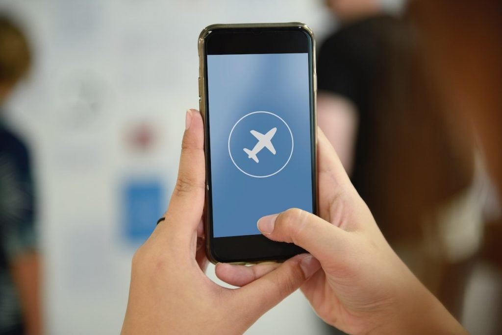 Place phone in airplane mode to lower risk of EMF exposure