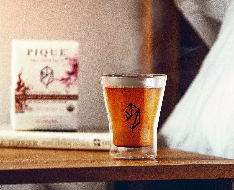 Pique Cinnamon Tea on nightstand