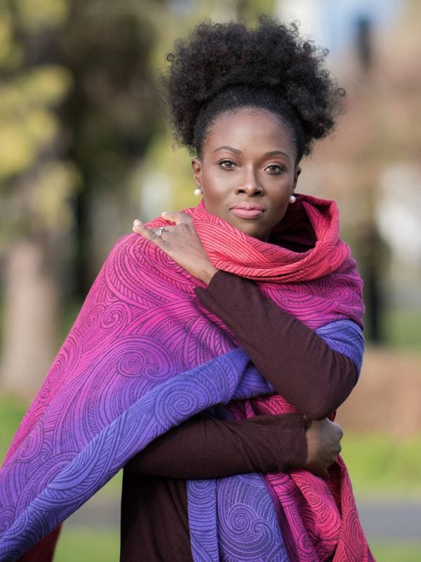 Seasalt Berry Crush babywearing wrap from Oscha Slings