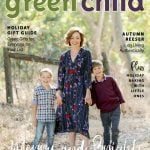 Actor Autumn Reeser with her sons on cover of Green Child Magazine's 2019 Holiday Issue