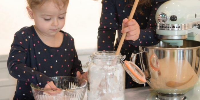 Holiday baking fun with little kids