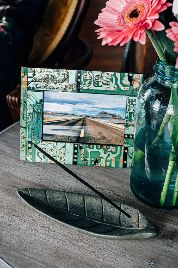 Upcycled Circuit Board Photo Frame