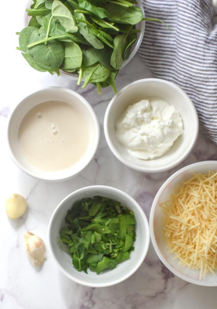 Spinach & Garlic Stuffed Spaghetti Squash ingredients