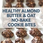 Almond Butter and Oat No-Bake Cookie Bites