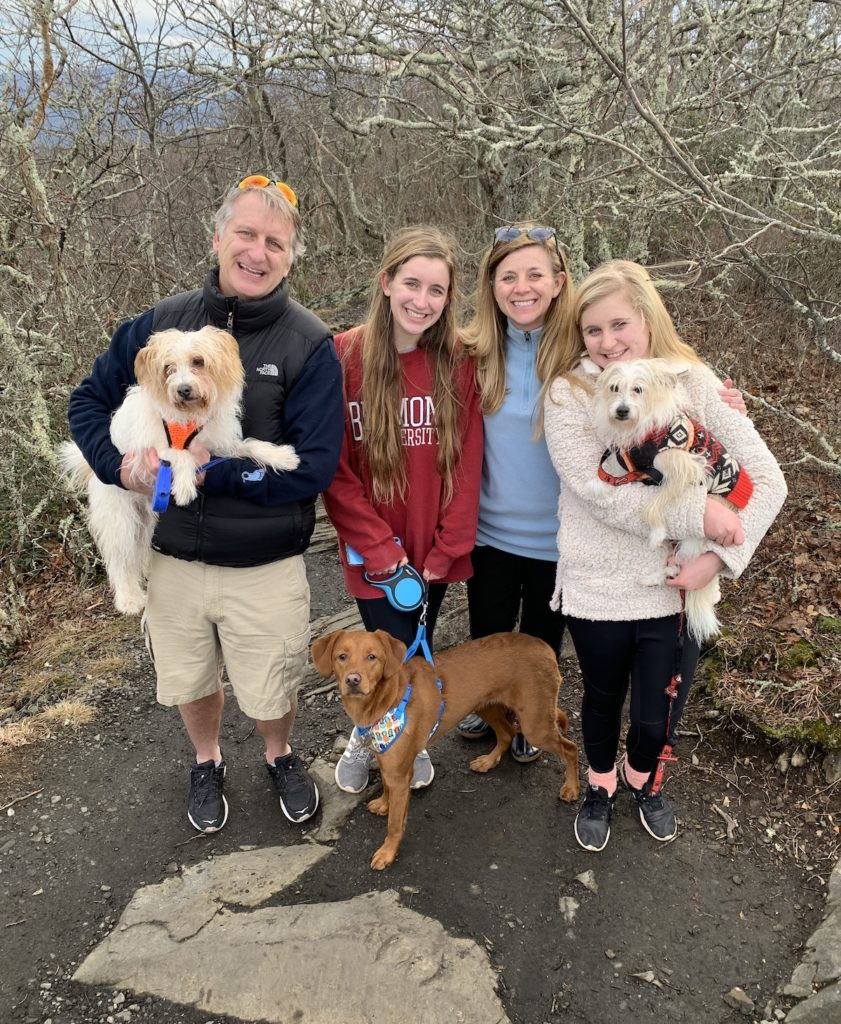 Twer family reunited with missing dog Delilah
