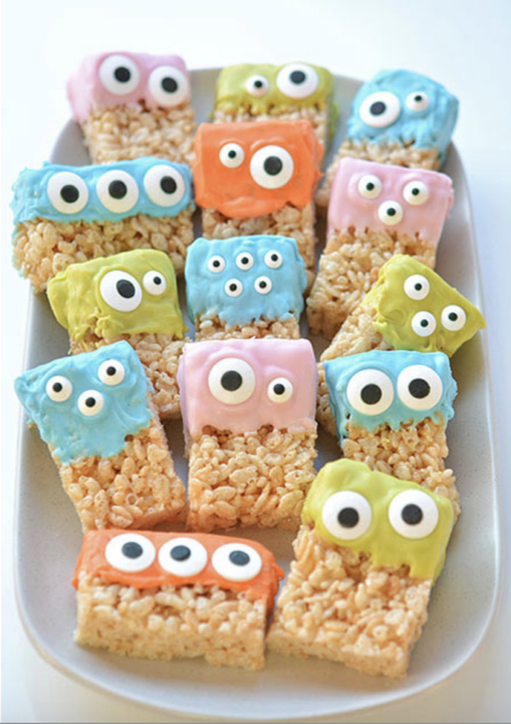 Rice Krispie Treat Monsters from OneLittleProject