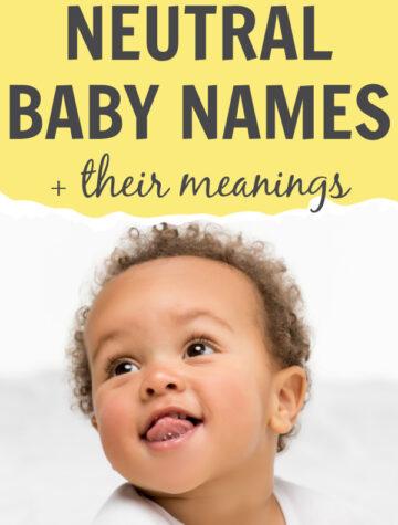 gender neutral baby names