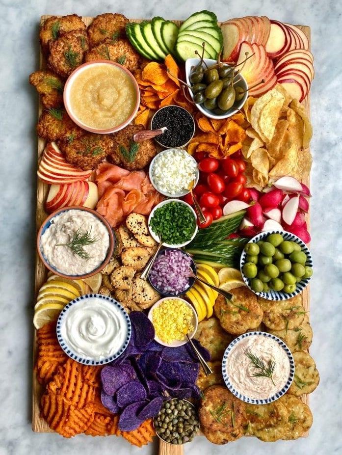 Hanukkah Latke Snack Tray