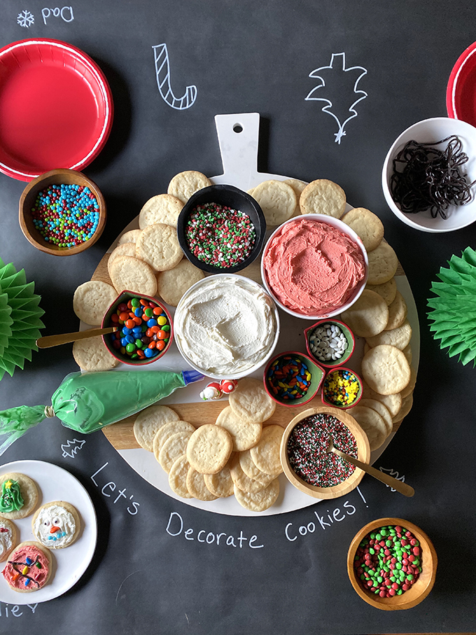 cookie decorating holiday snack boards