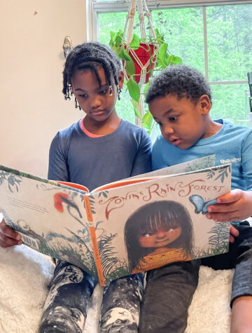Earth Day book Zonia's Rain Forest