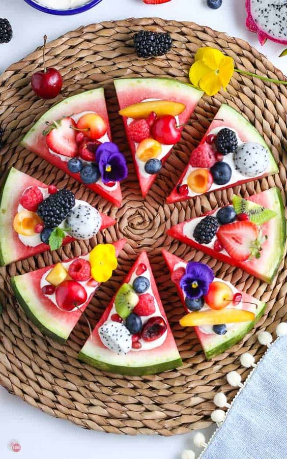healthy snack fruit pizza