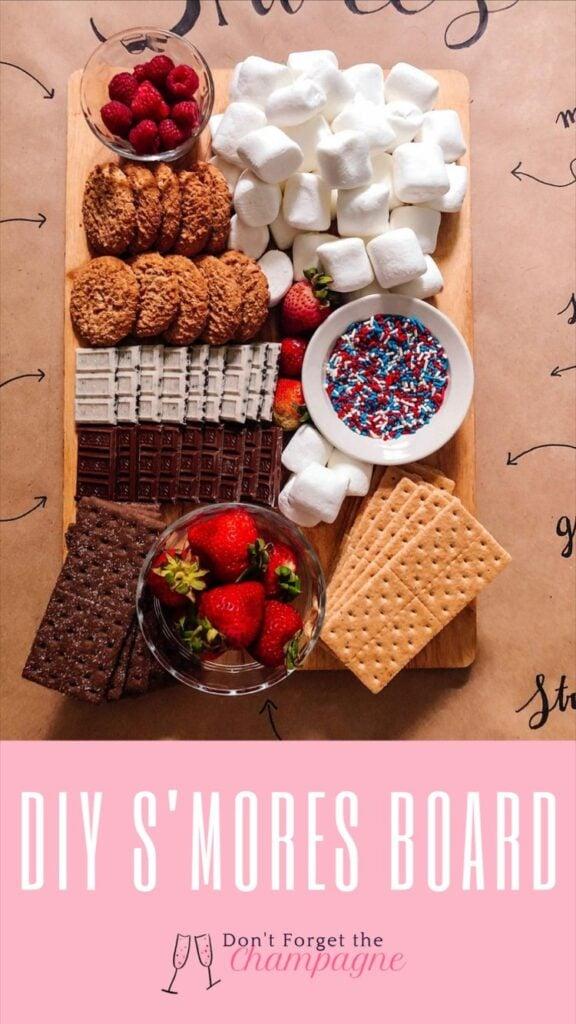 smores snack board